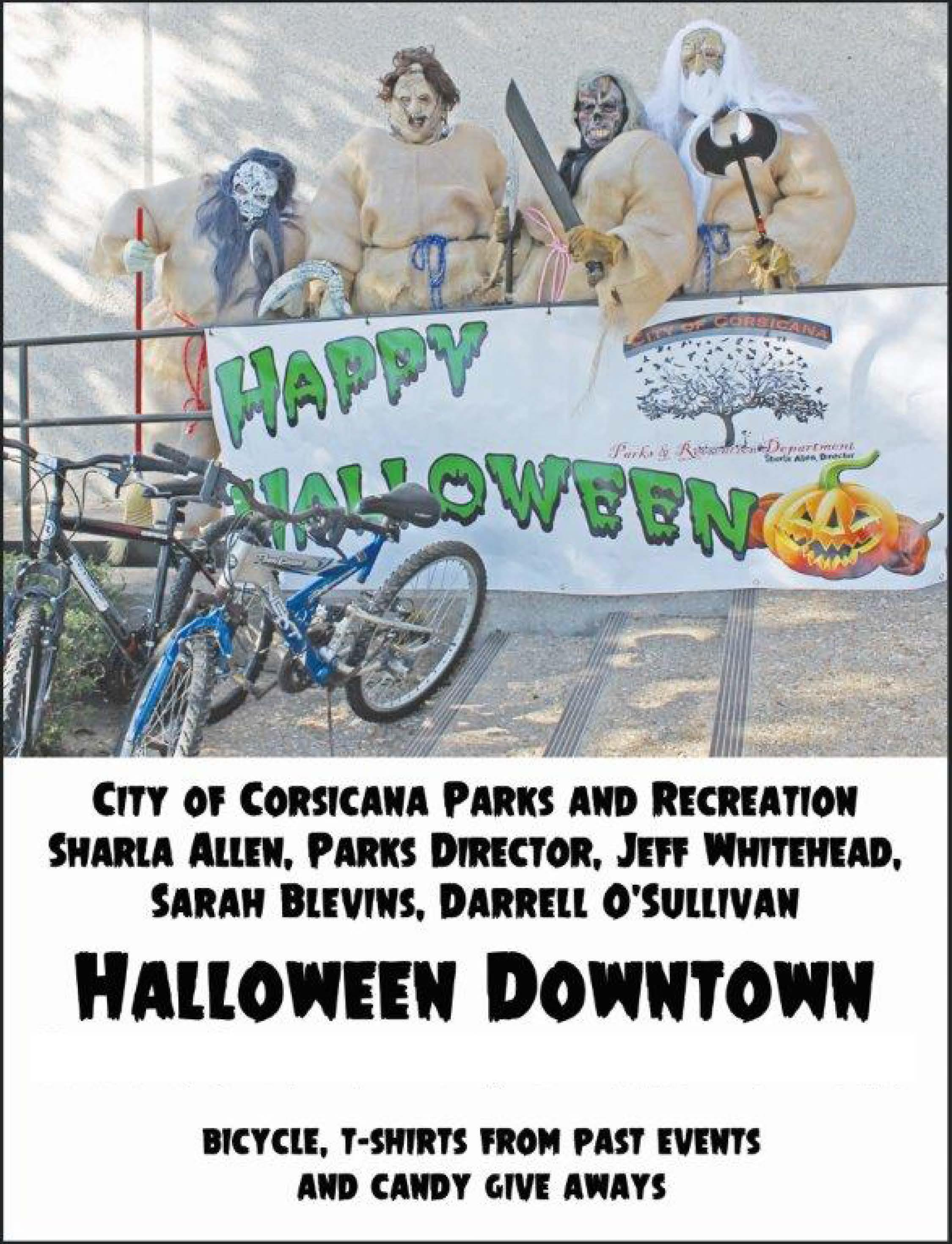 City of Corsicana Parks and Rec Halloween Flyer