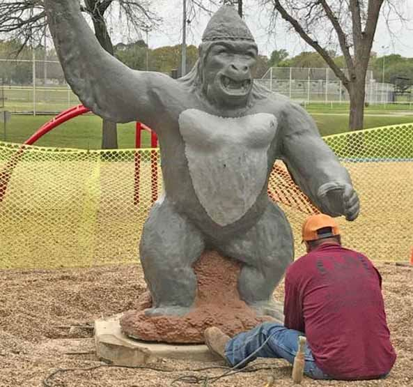Gorilla Statue in Community Park