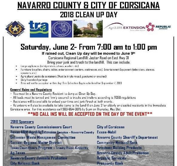 2018 Clean up Day Flyer