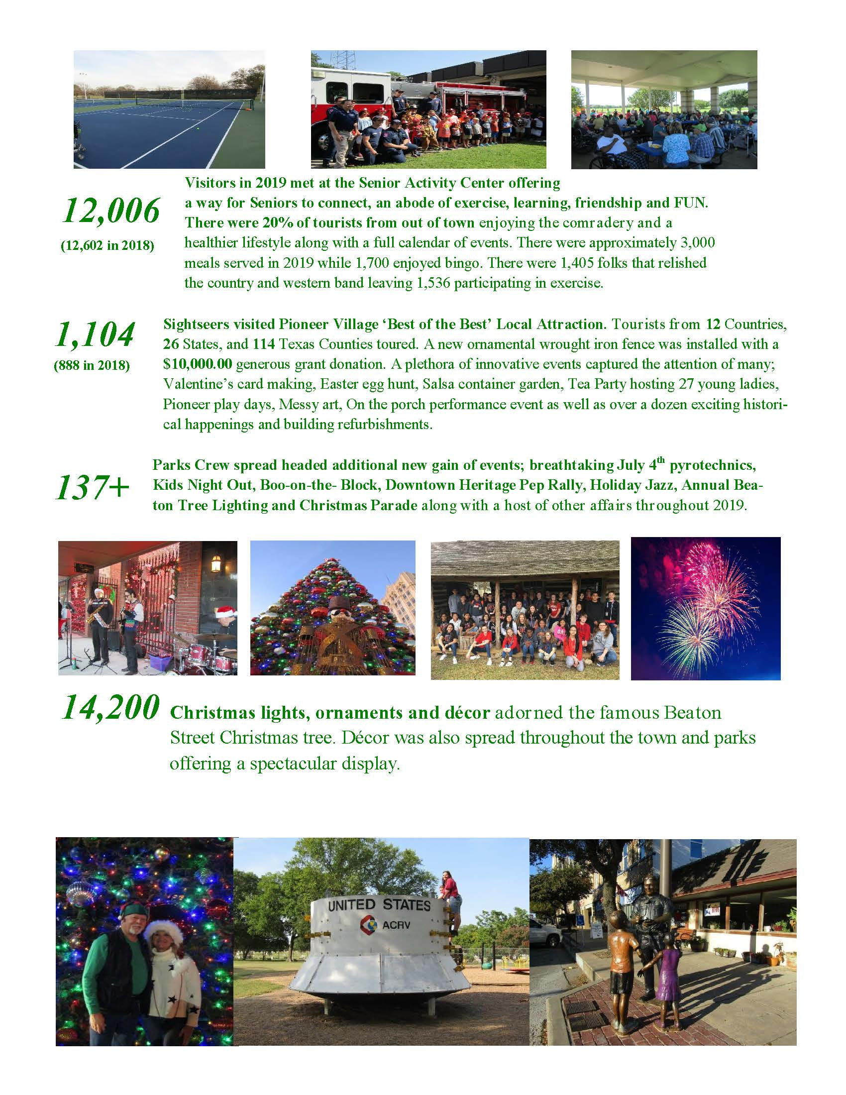 Parks Annual Report 2019