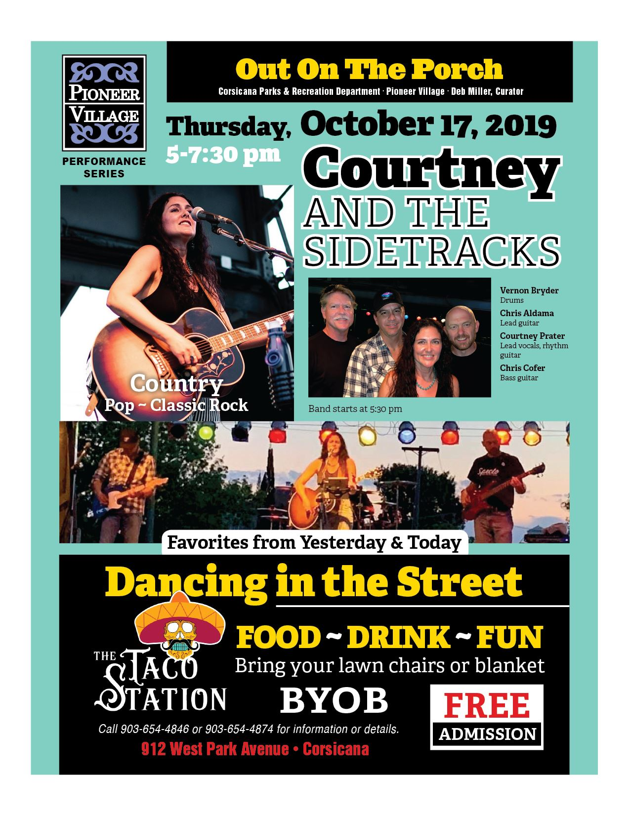 On The Porch Flyer Events October 17, 2019