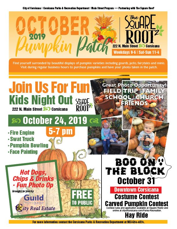 Pumpkin Patch 2019 Flyer