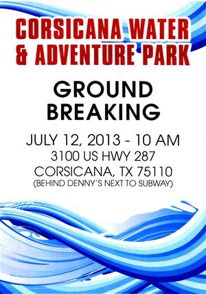 Water Park Groundbreaking Flyer