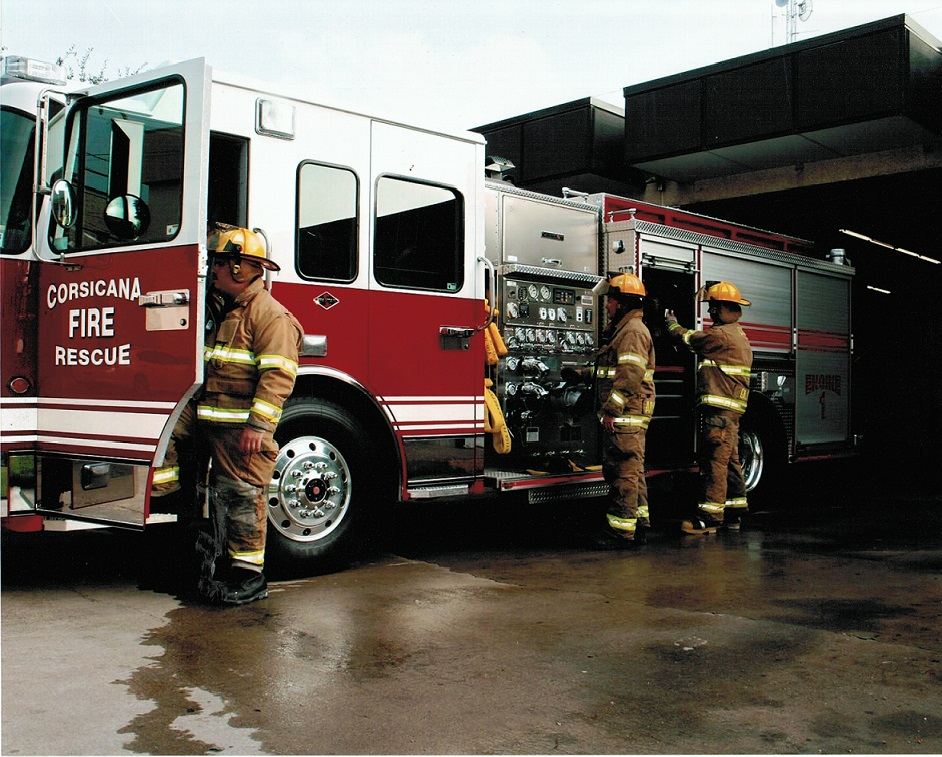 Corsicana Firefighters and Equipment