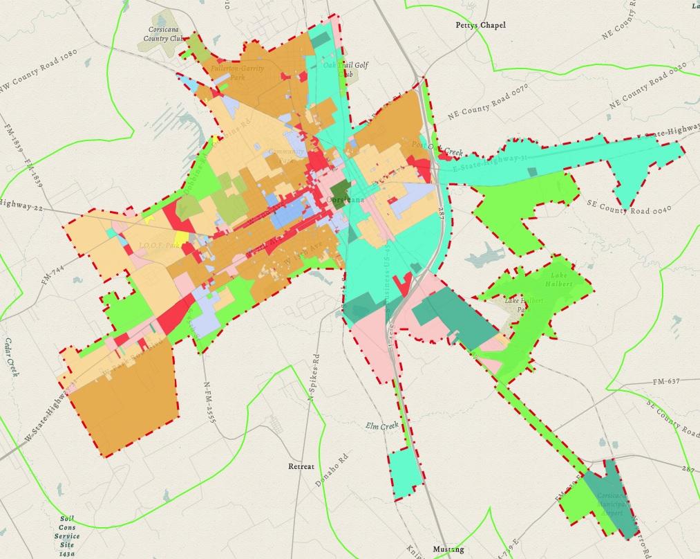 Corsicana TX Official Website Zoning Permitting - Corsicana Tx Us Map