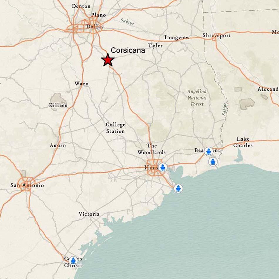 Corsicana TX Official Website Water Ports - Corsicana Tx Us Map